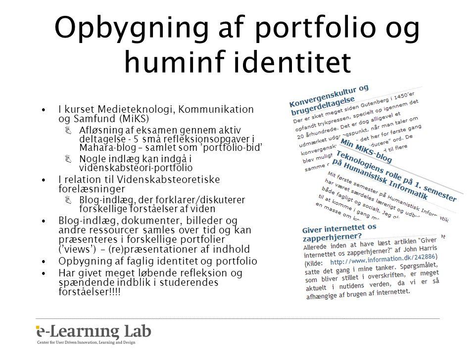 Opbygning af portfolio og huminf identitet