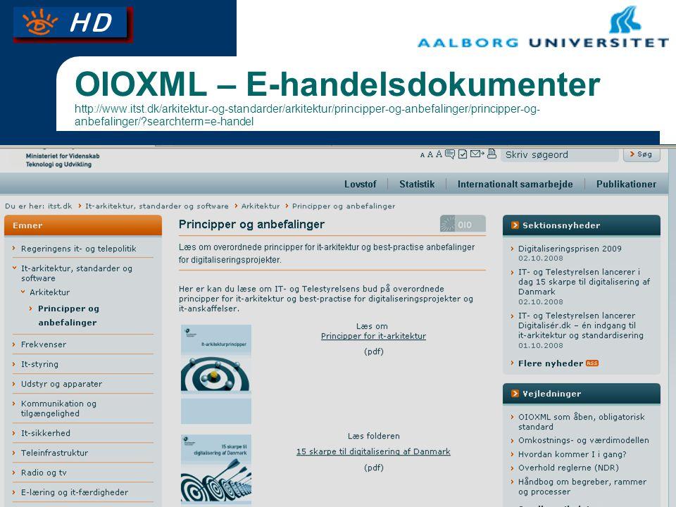 OIOXML – E-handelsdokumenter http://www. itst