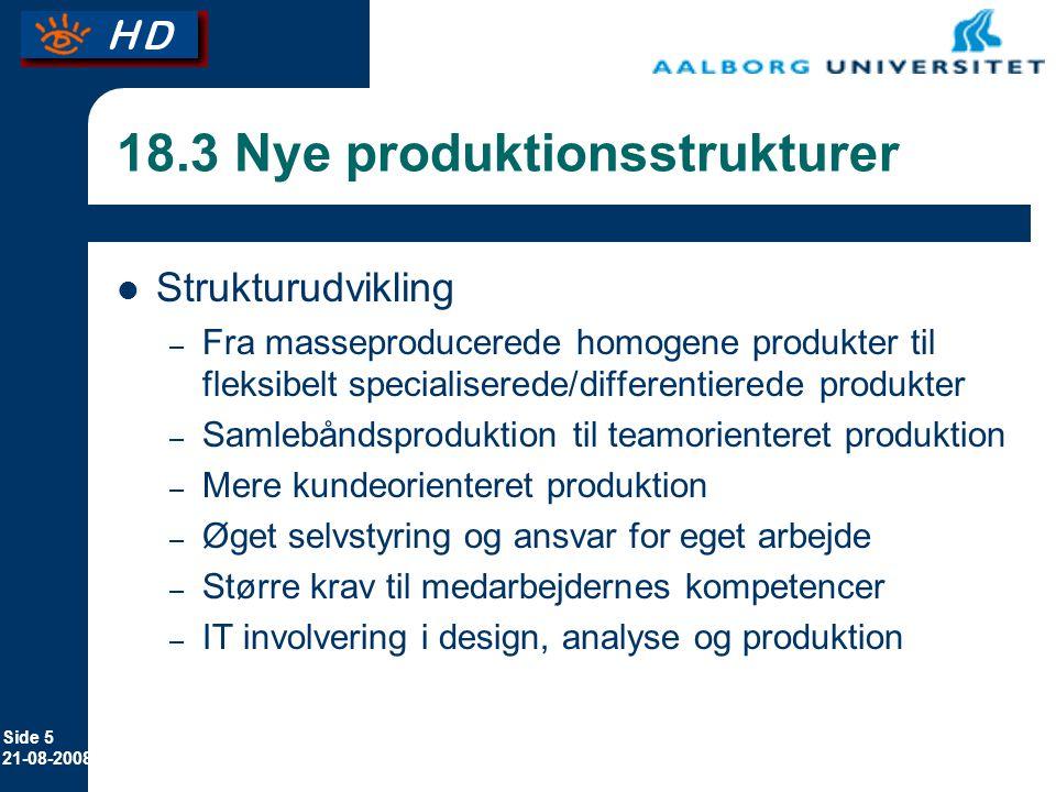 18.3 Nye produktionsstrukturer