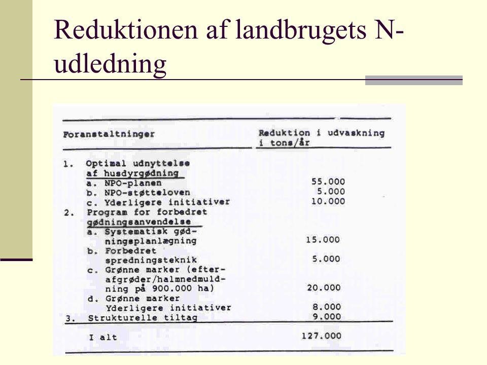 Reduktionen af landbrugets N-udledning