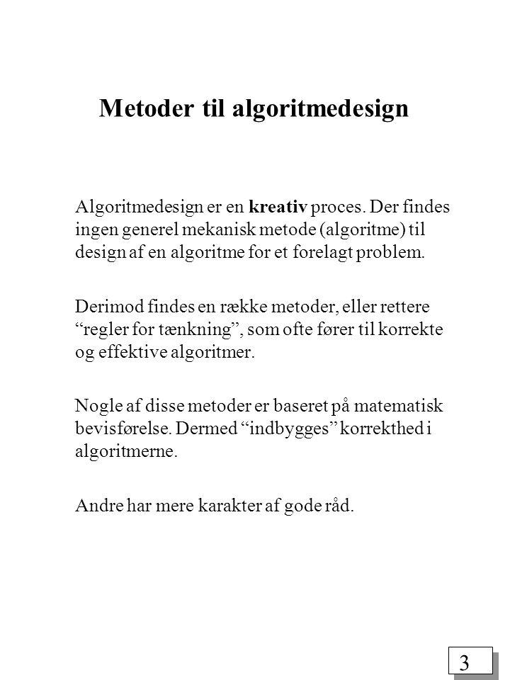 Metoder til algoritmedesign