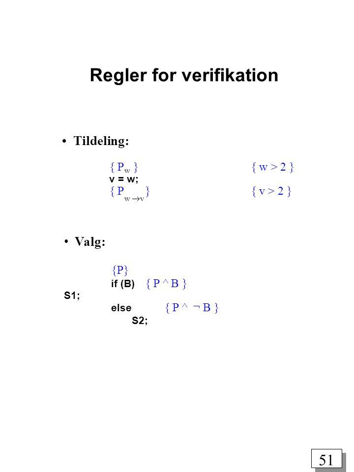 Regler for verifikation