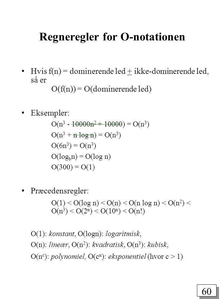 Regneregler for O-notationen