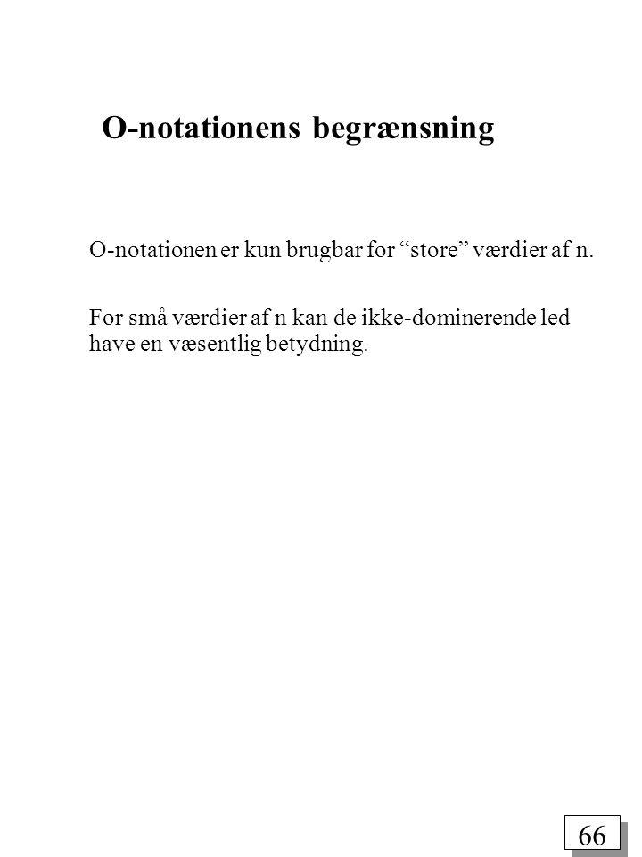 O-notationens begrænsning