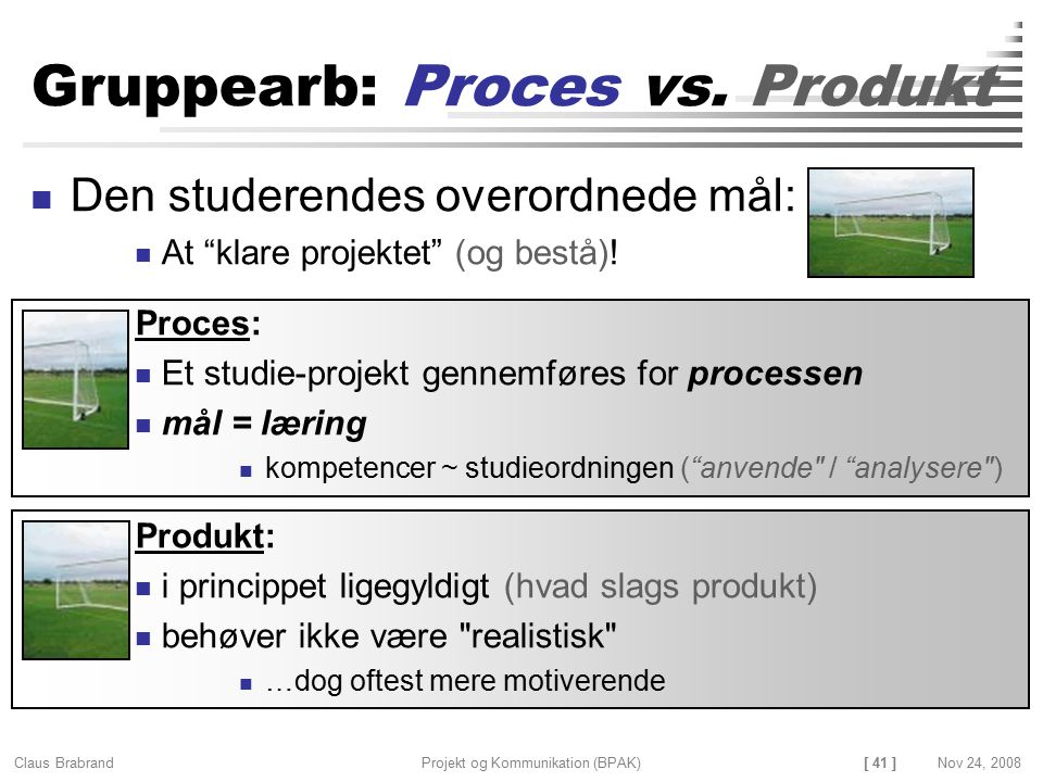 Gruppearb: Proces vs. Produkt