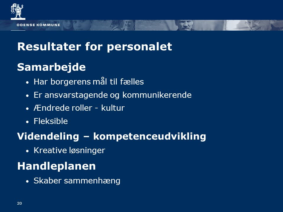 Resultater for personalet