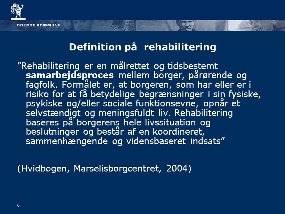 Definition på rehabilitering