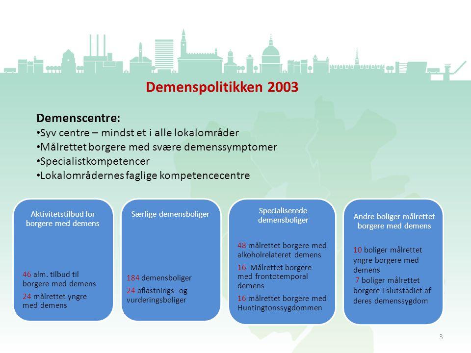 Demenspolitikken 2003 Demenscentre: