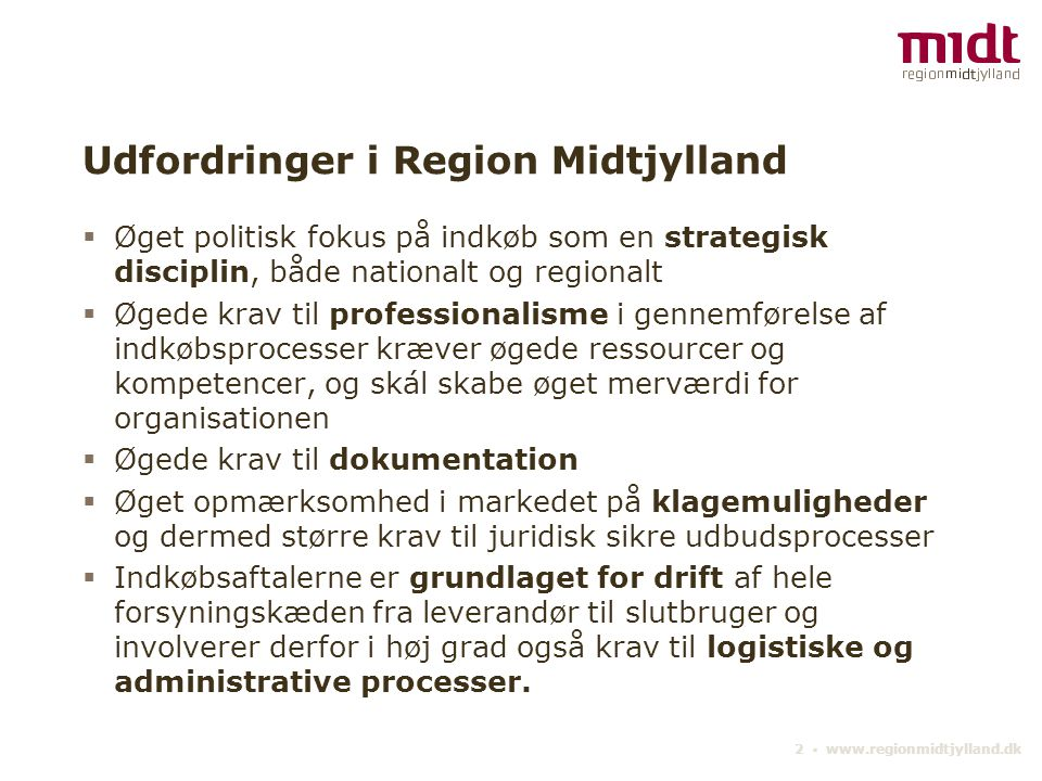 Udfordringer i Region Midtjylland