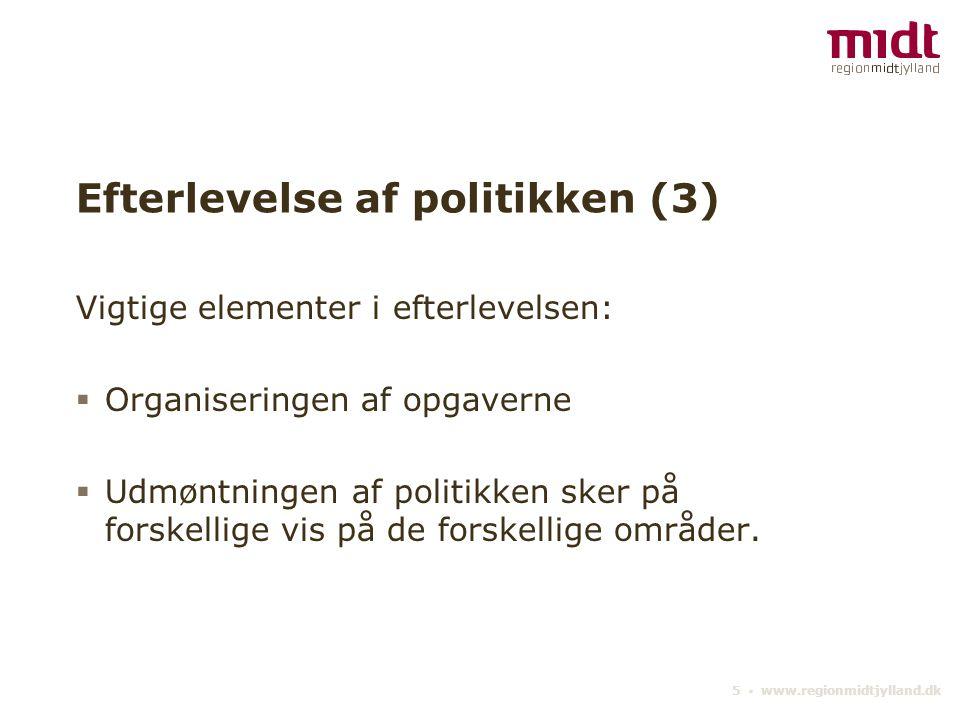 Efterlevelse af politikken (3)