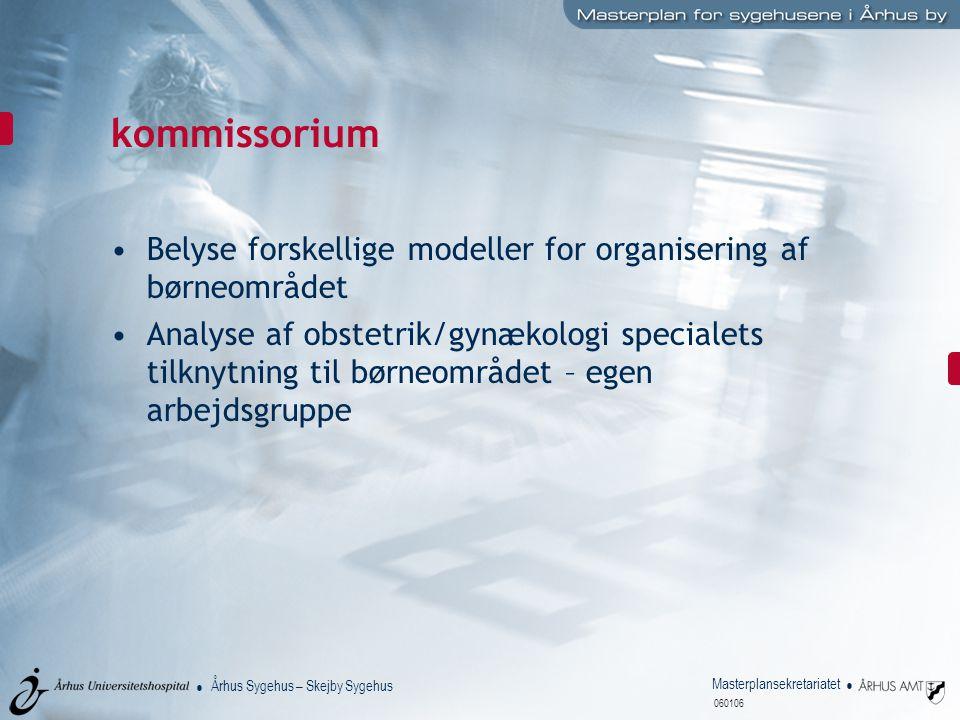kommissorium Belyse forskellige modeller for organisering af børneområdet.