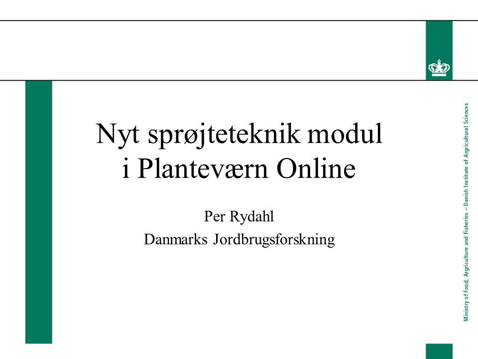 Nyt sprøjteteknik modul i Planteværn Online