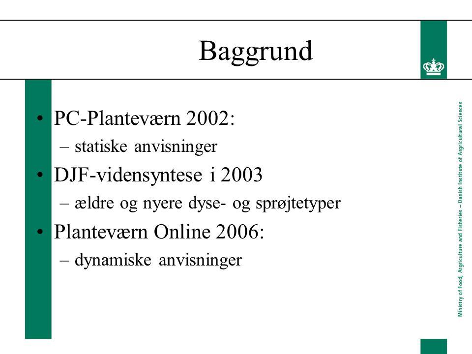 Baggrund PC-Planteværn 2002: DJF-vidensyntese i 2003