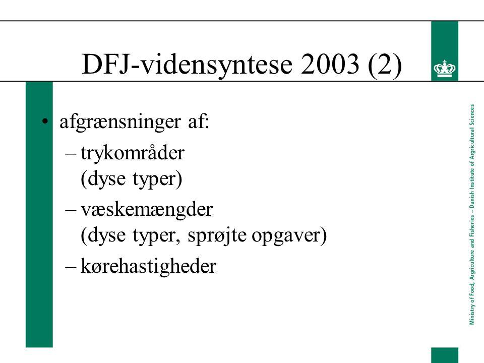 DFJ-vidensyntese 2003 (2) afgrænsninger af: trykområder (dyse typer)