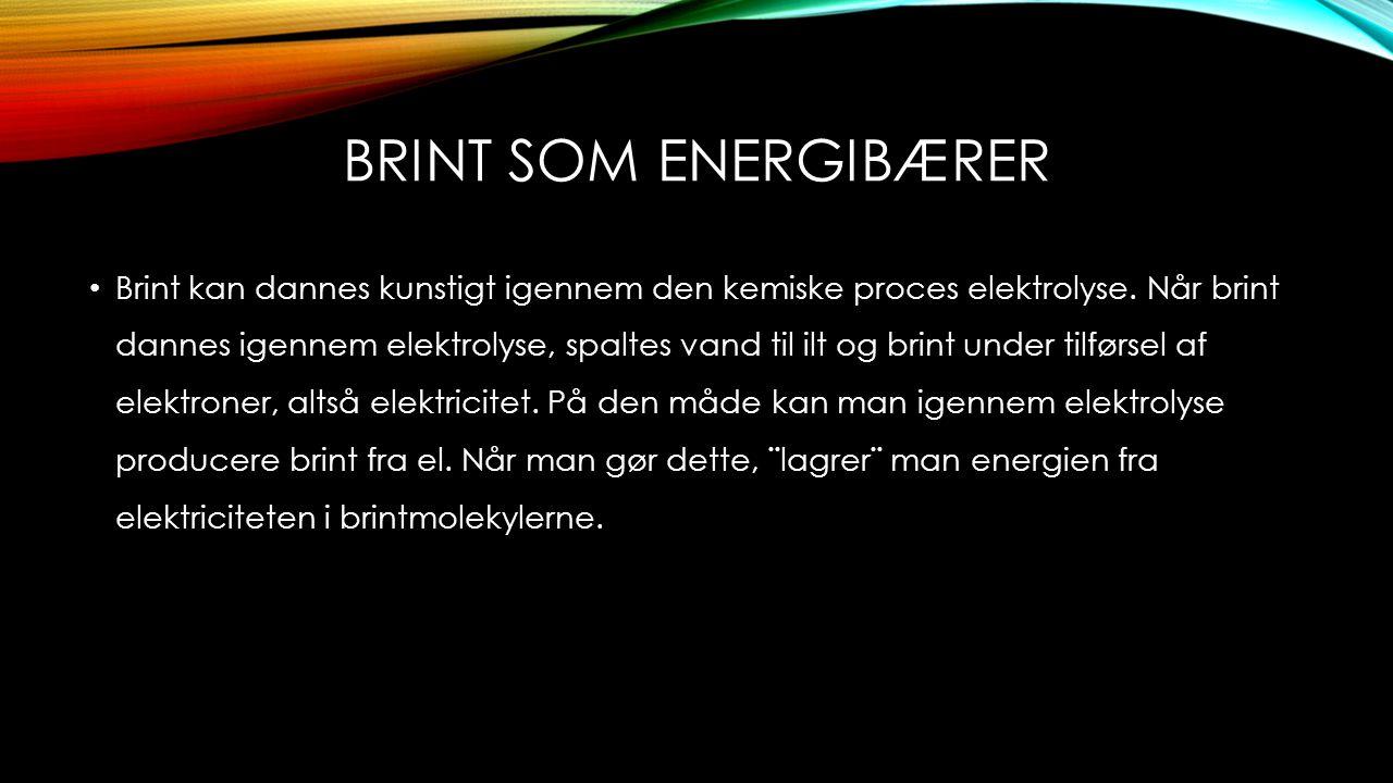 Brint som energibærer