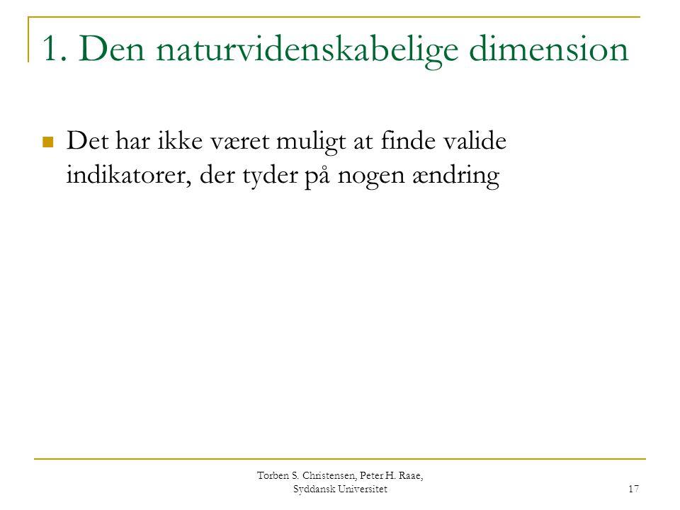 1. Den naturvidenskabelige dimension