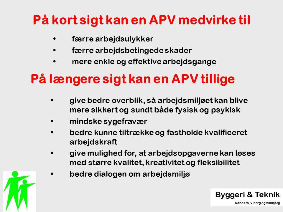 På kort sigt kan en APV medvirke til
