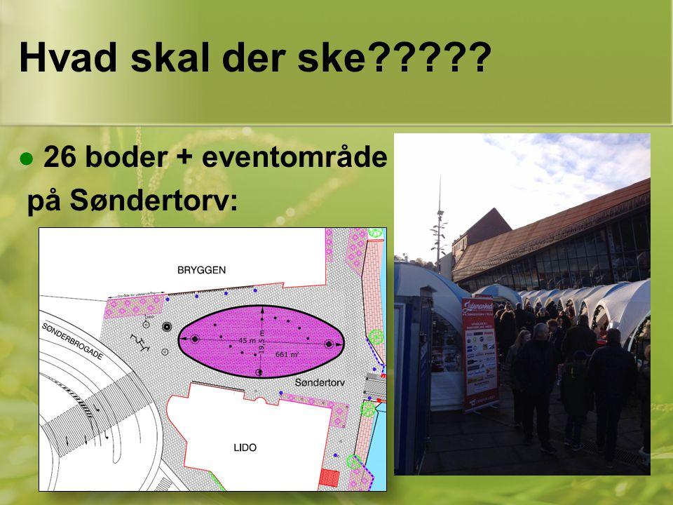 Hvad skal der ske 26 boder + eventområde på Søndertorv: