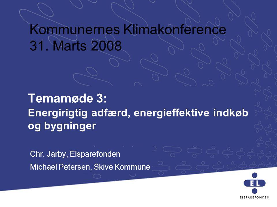 Temamøde 3: Energirigtig adfærd, energieffektive indkøb og bygninger