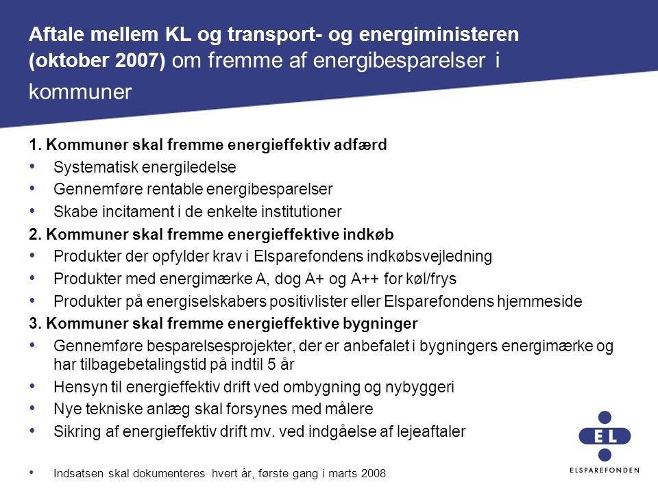 Aftale mellem KL og transport- og energiministeren (oktober 2007) om fremme af energibesparelser i kommuner