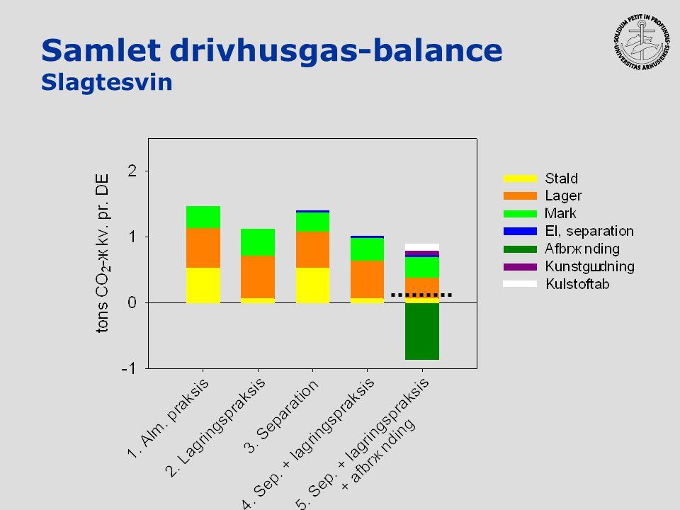 Samlet drivhusgas-balance Slagtesvin