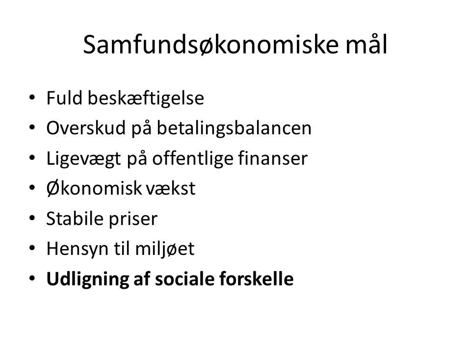 Samfundsøkonomiske mål