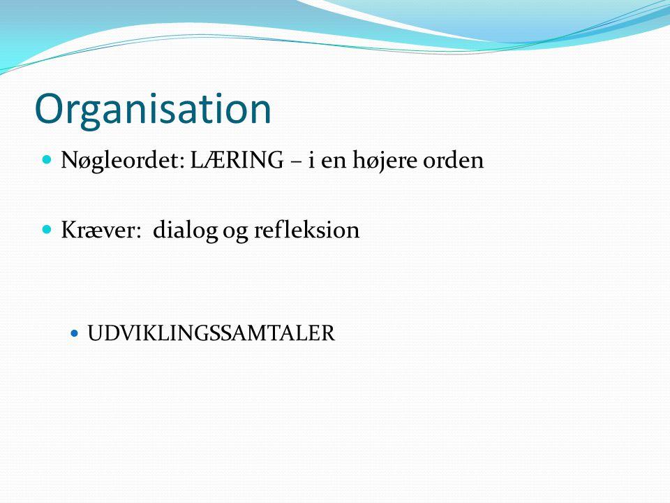 Organisation Nøgleordet: LÆRING – i en højere orden