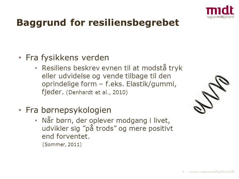 Baggrund for resiliensbegrebet
