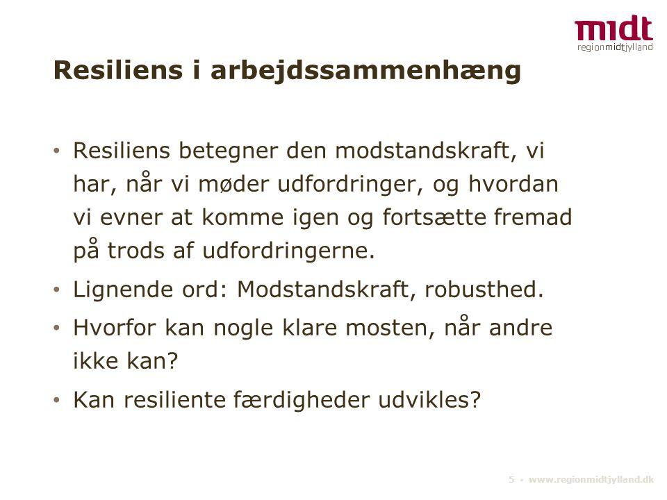 Resiliens i arbejdssammenhæng