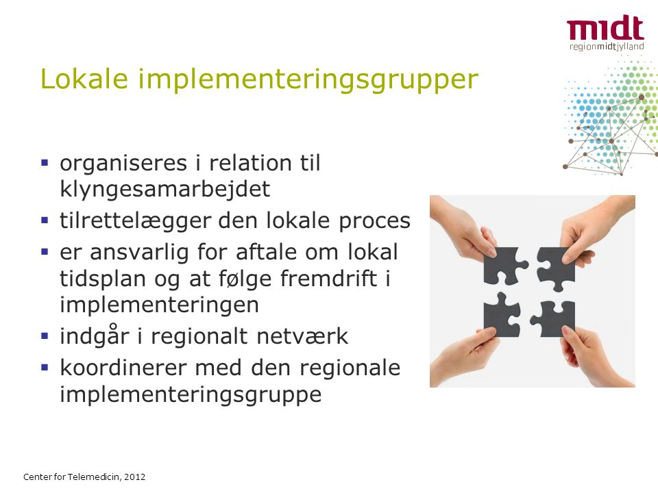 Lokale implementeringsgrupper