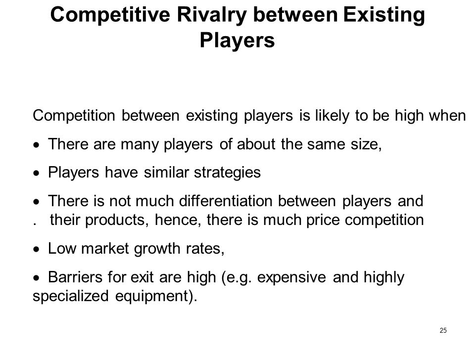 Competitive Rivalry between Existing Players