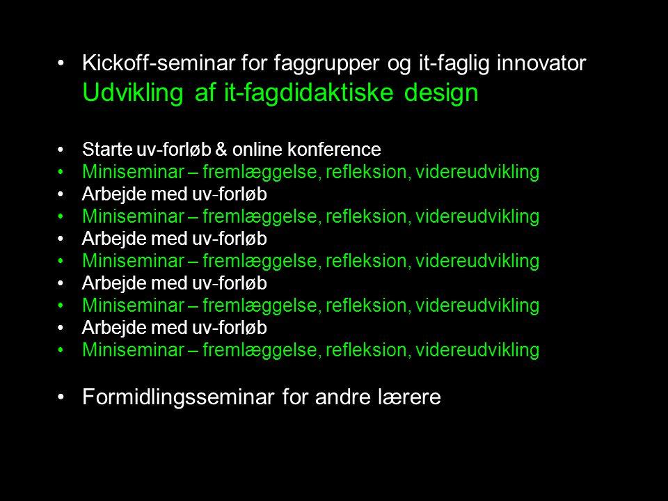 Kickoff-seminar for faggrupper og it-faglig innovator