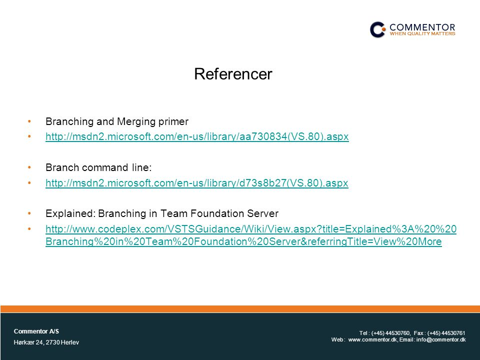 Referencer Branching and Merging primer