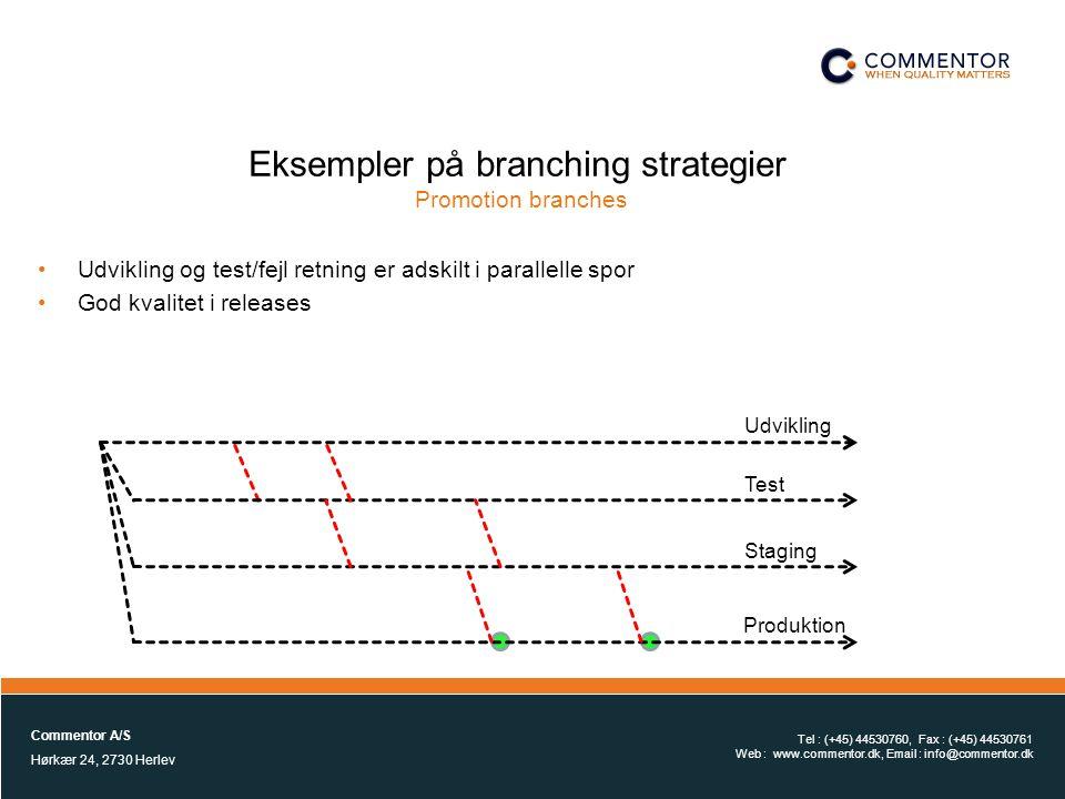 Eksempler på branching strategier Promotion branches