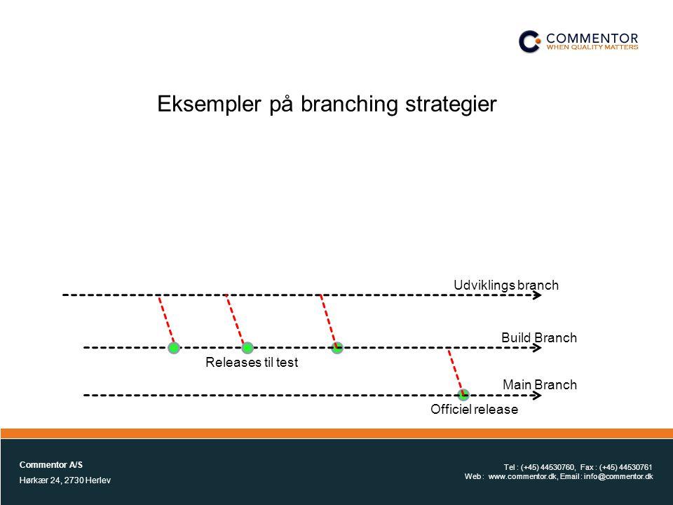 Eksempler på branching strategier