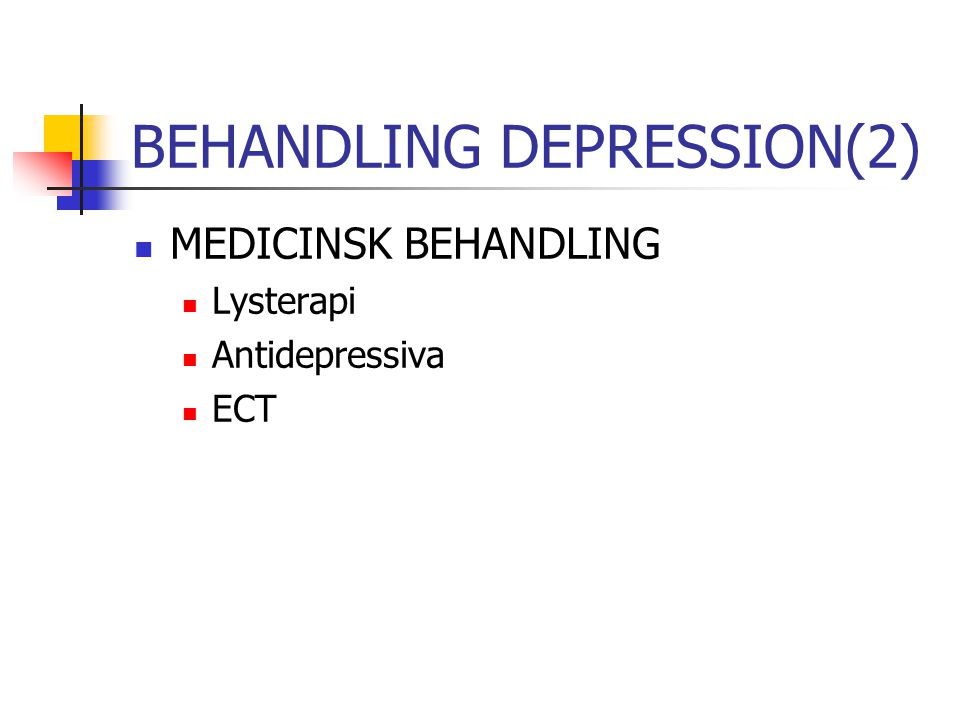 BEHANDLING DEPRESSION(2)