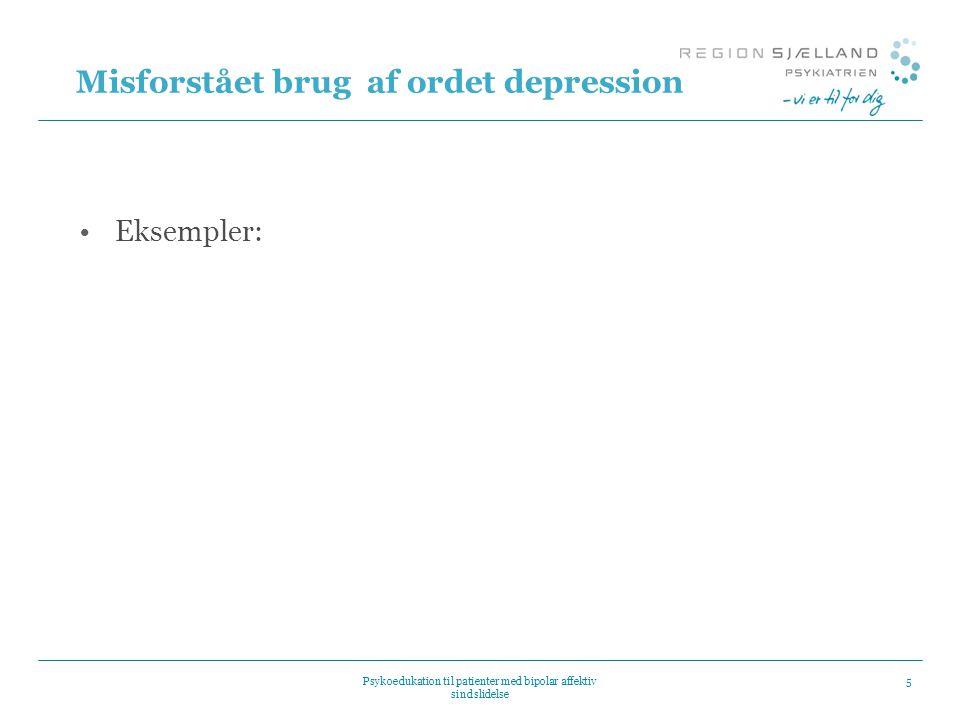 Misforstået brug af ordet depression