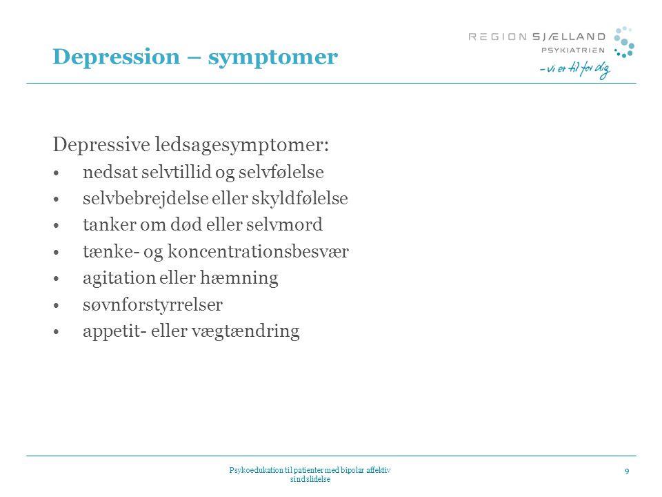 Depression – symptomer