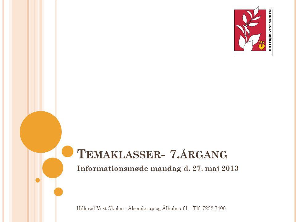 Informationsmøde mandag d. 27. maj 2013