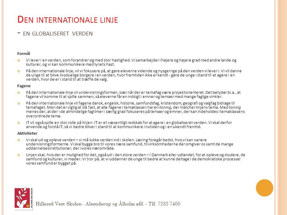 Den internationale linje - en globaliseret verden