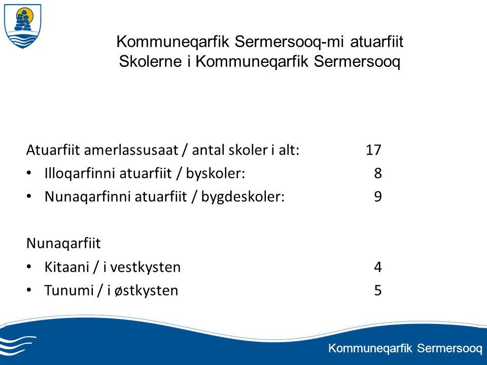 Kommuneqarfik Sermersooq-mi atuarfiit Skolerne i Kommuneqarfik Sermersooq