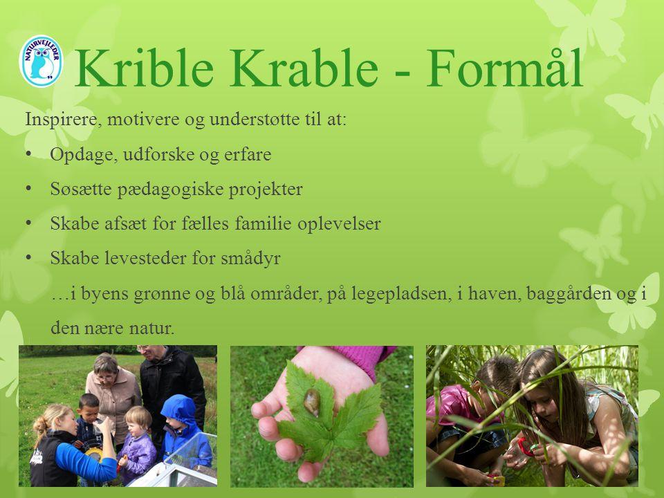Krible Krable - Formål Inspirere, motivere og understøtte til at: