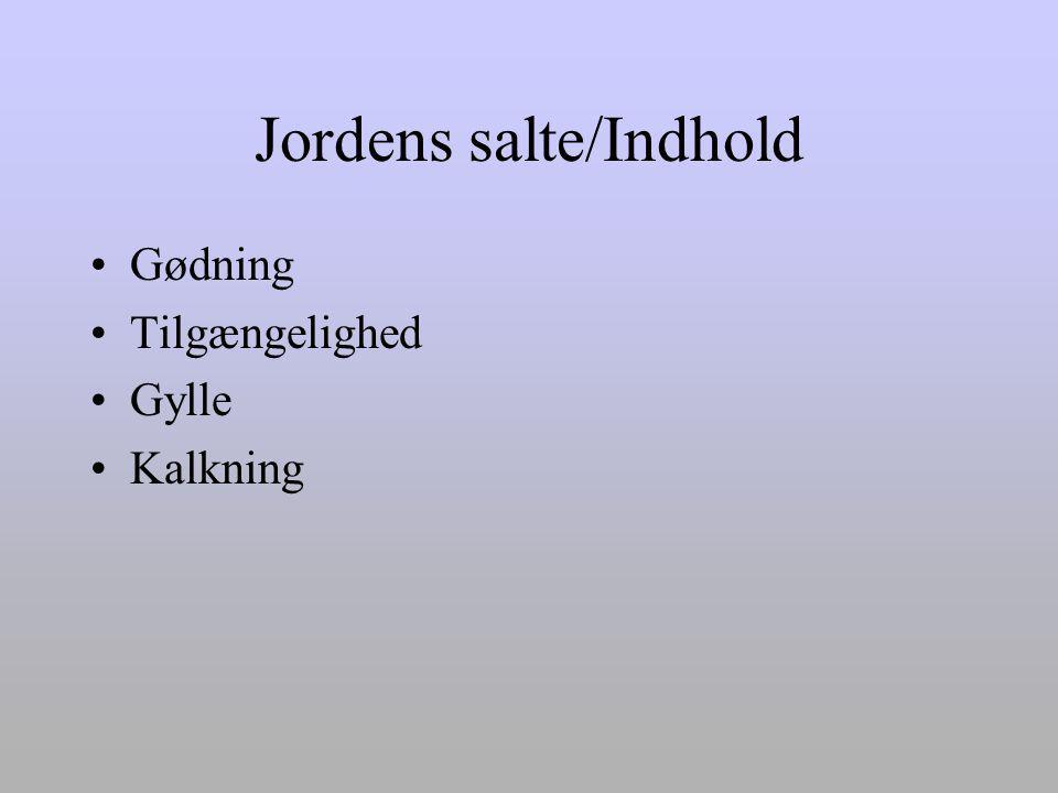 Jordens salte/Indhold