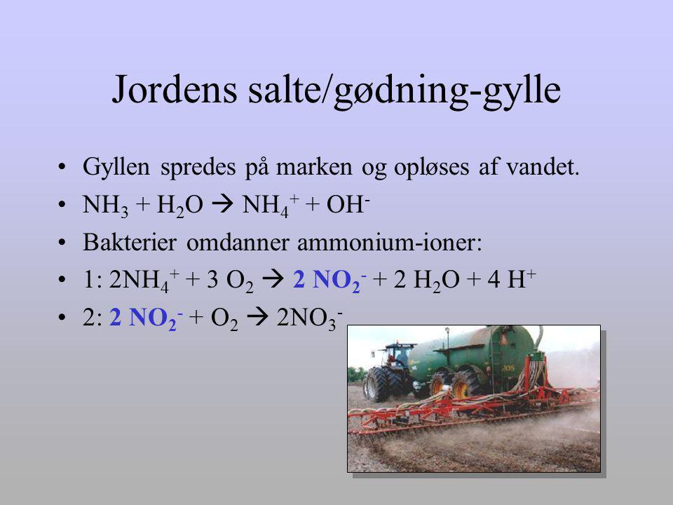 Jordens salte/gødning-gylle