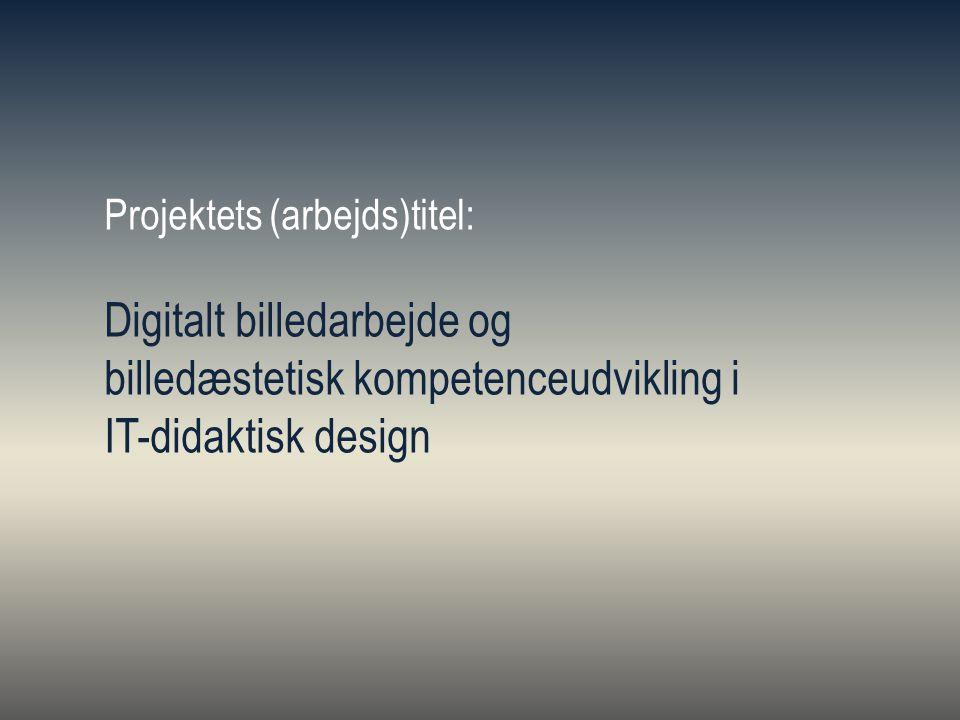 Digitalt billedarbejde og billedæstetisk kompetenceudvikling i