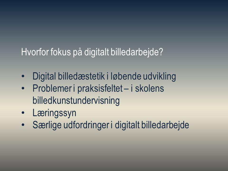 Hvorfor fokus på digitalt billedarbejde