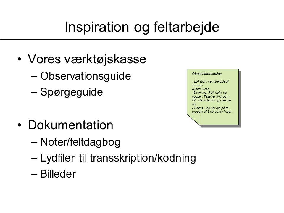 Inspiration og feltarbejde