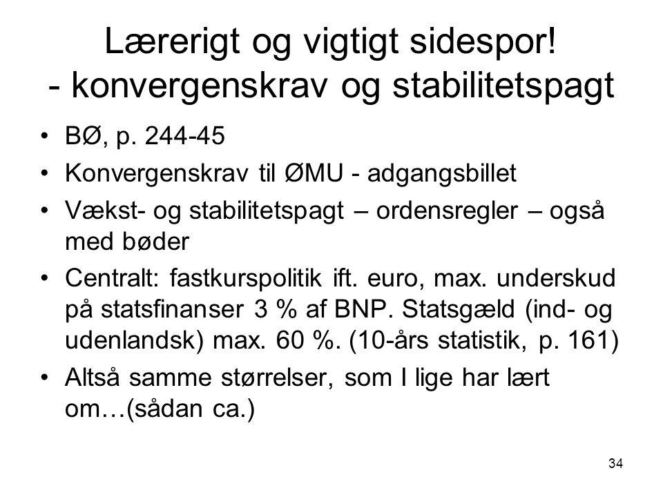 Lærerigt og vigtigt sidespor! - konvergenskrav og stabilitetspagt