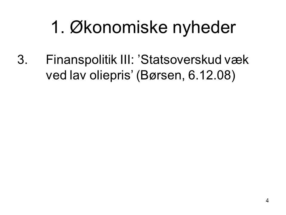1. Økonomiske nyheder 3.