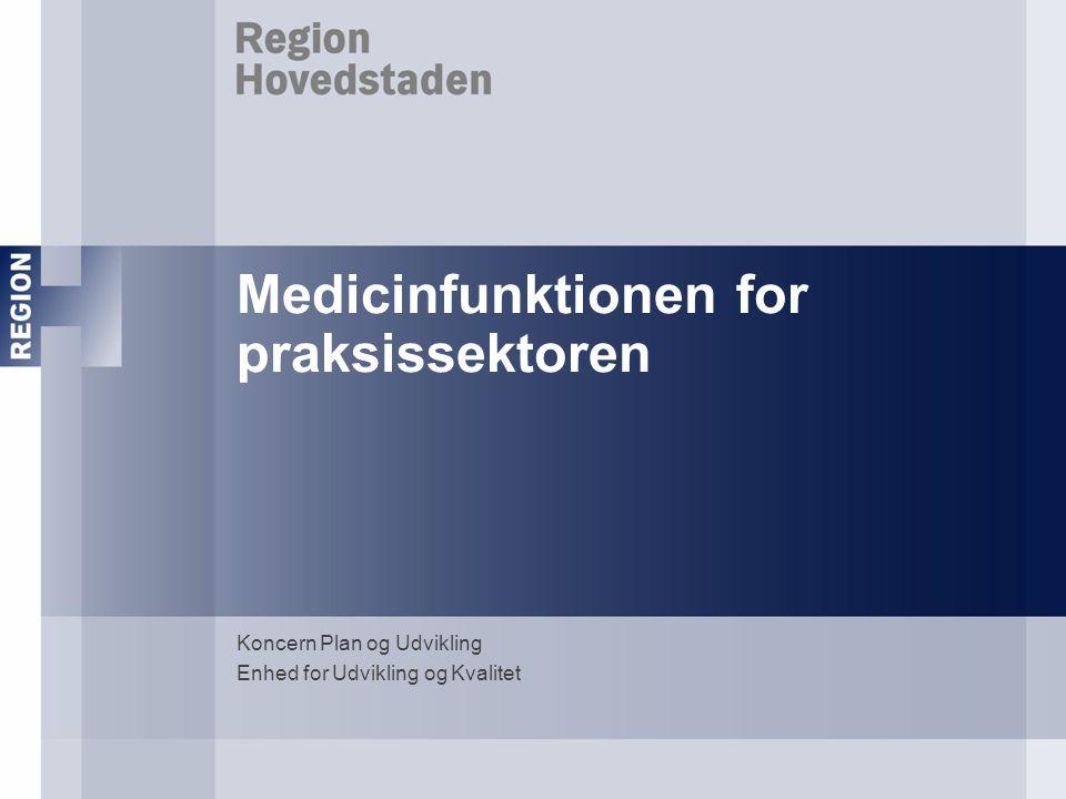 Medicinfunktionen for praksissektoren